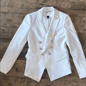 White House Black Market white blazer size 2